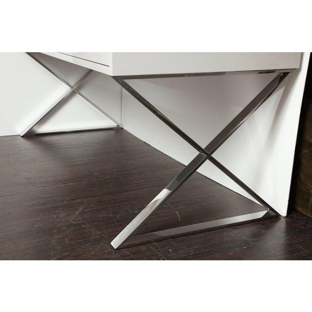 Custom Oversized High Gloss Lacquer Desk For Sale In New York - Image 6 of 10