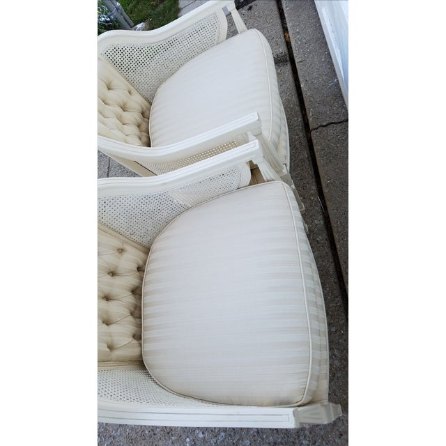 Off-White Cane Back Barrel Chairs - A Pair - Image 7 of 7