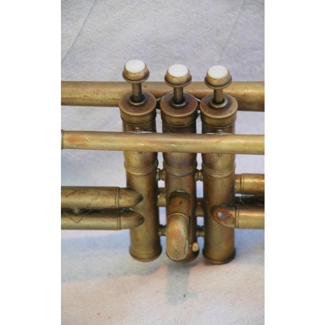 Antique Brass Trumpet Horn - Image 8 of 8