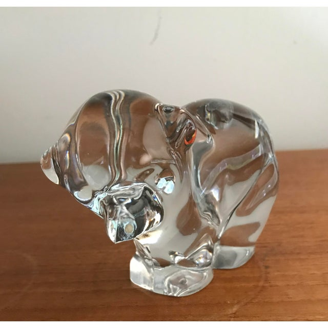 Orrefors Art Glass Crystal Bear Figure For Sale - Image 4 of 5