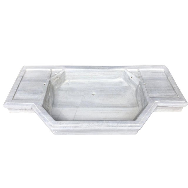 Mid-Century Modern Antique Art Deco Turkish Marble Sink For Sale - Image 3 of 9