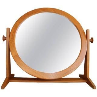 Danish Modern Tilting Teak Table Mirror by Pedersen & Hansen, 1960s For Sale