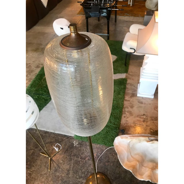 Italian Brass and Art Glass Floor Lamp, 1960s For Sale In Los Angeles - Image 6 of 13