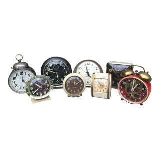 Vintage Clock Collection - Set of 8 For Sale