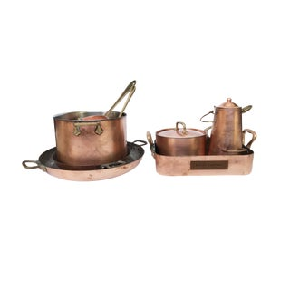 20th Century Mixed Set of Copperware - 8 Pieces For Sale