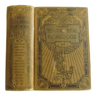"1911 Antique ""The Universal Handbook"" Published by the John C. Winston Co. For Sale"