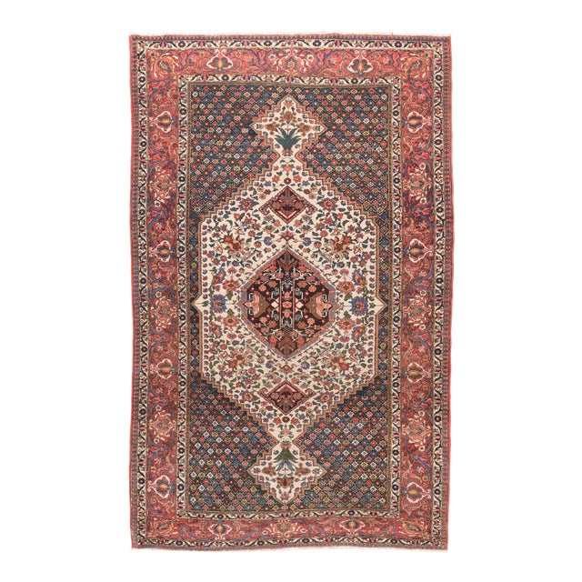 1910s Hand Knotted Persian Bakhtiyari Wool For Sale