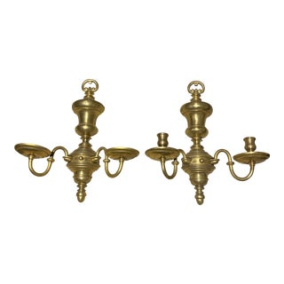 1920s Caldwell Brass Sconces - a Pair For Sale