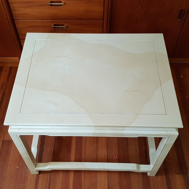 Henredon Asian Inspired Faux Finish End Table - Image 3 of 6