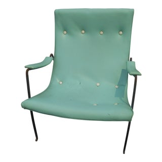 1960s Mid-Century Modern Milo Baughman Scoop Lounge Arm Chair For Sale