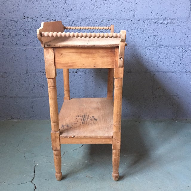 Antique Pine & Milk Glass Washstand For Sale - Image 4 of 11