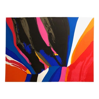 1980 Charles Schorre Abstract Silkscreen For Sale