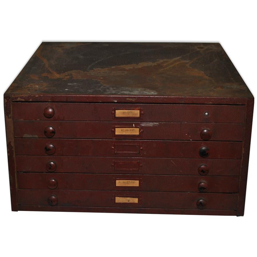 Industrial Antique 6 Drawer Industrial Watch Crystal Machinist Filing  Cabinet Chest For Sale   Image 3