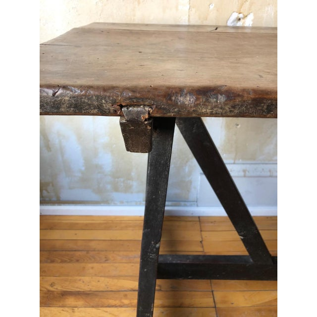 17th Century Italian Antique Trestle Table For Sale - Image 9 of 12
