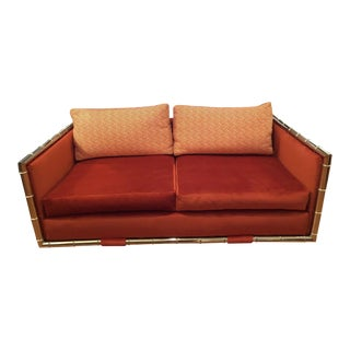 Adrian Pearsall Faux Bamboo Loveseat