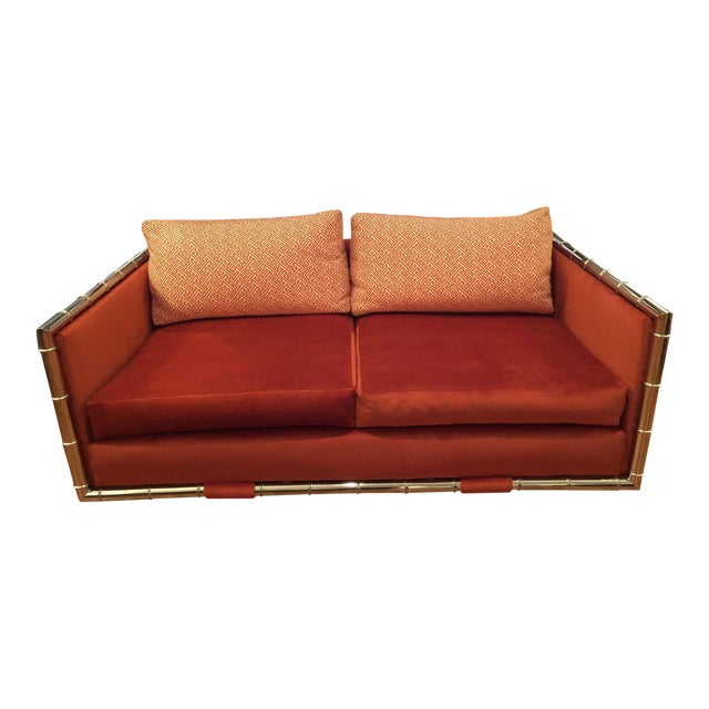 Adrian Pearsall Faux Bamboo Loveseat - Image 1 of 6