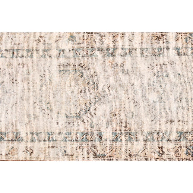 "Islamic Apadana-Antique Persian Distressed Rug, 3'1"" X 10'1"" For Sale - Image 3 of 9"