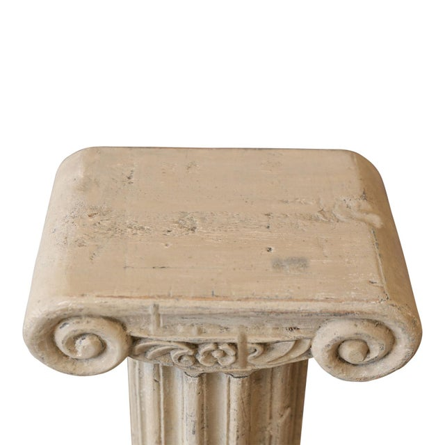 Painted Wood Pedestal Table For Sale In Houston - Image 6 of 7