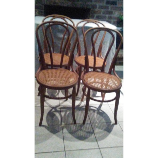Vintage Thonet Bentwood Cane Chairs - 4 - Image 2 of 11