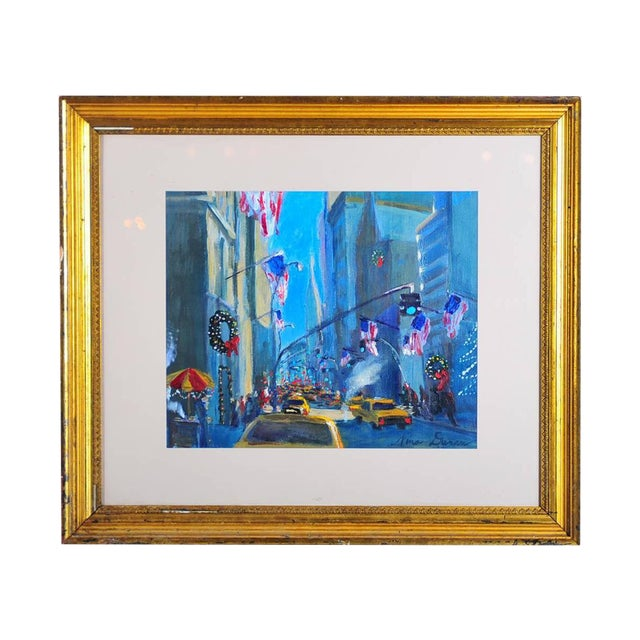 """Downtown Manhattan 4th July,"" Oil Painting - Image 1 of 10"