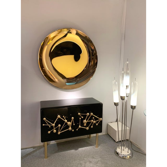 Not Yet Made - Made To Order Italian Contemporary Curve Convex Mirror For Sale - Image 5 of 11