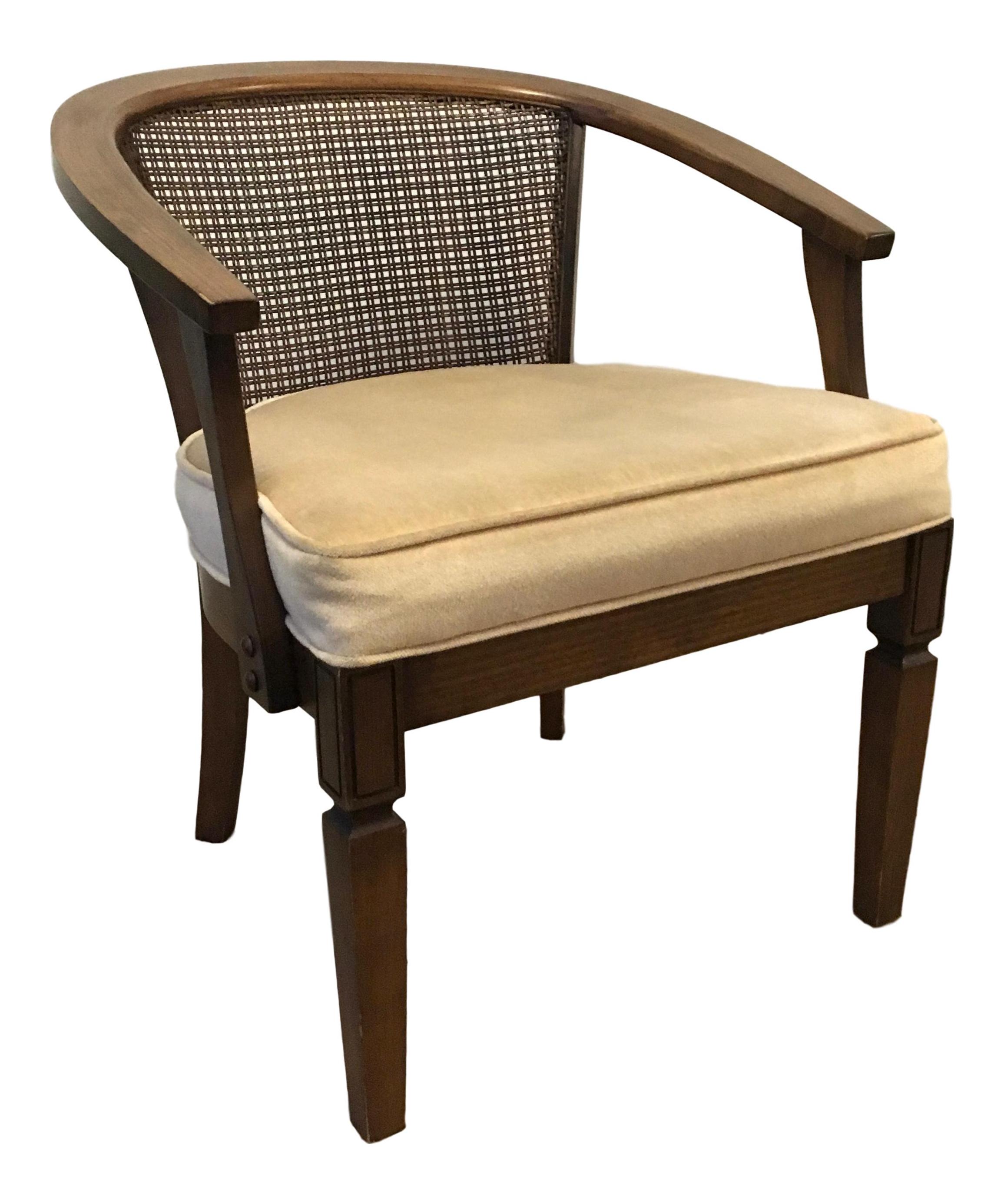 1970u0027s Cane Back Barrel Club Chair   Image 1 ...