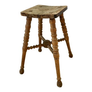Late 19th Century English Stool For Sale
