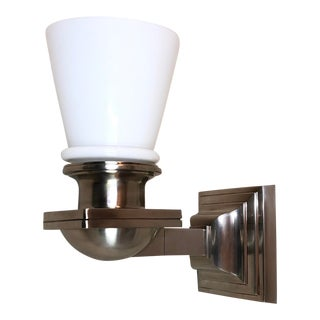 Visual Comfort New York Subway Bath Wall Light in Antique Nickel For Sale