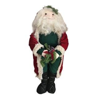 Vintage Handmade Santa For Sale