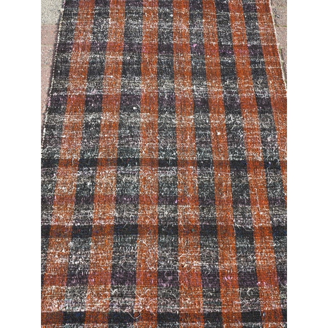 "Mid 20th Century Vintage Turkish Kilim Runner2'7'x18'6"" For Sale - Image 5 of 13"