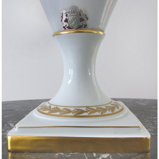 European Porcelain Swan Handle Urn - Image 3 of 11