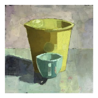 Original Oil Painting - Still Life With Cups For Sale