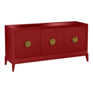 Casa Cosima Hayes Sideboard, Classic Burgundy For Sale
