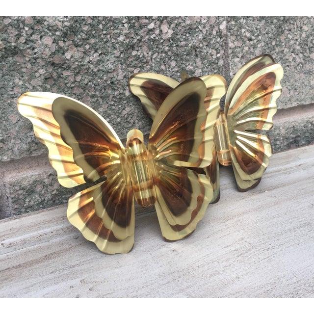 Vintage Metal Butterflies - A Pair - Image 3 of 5