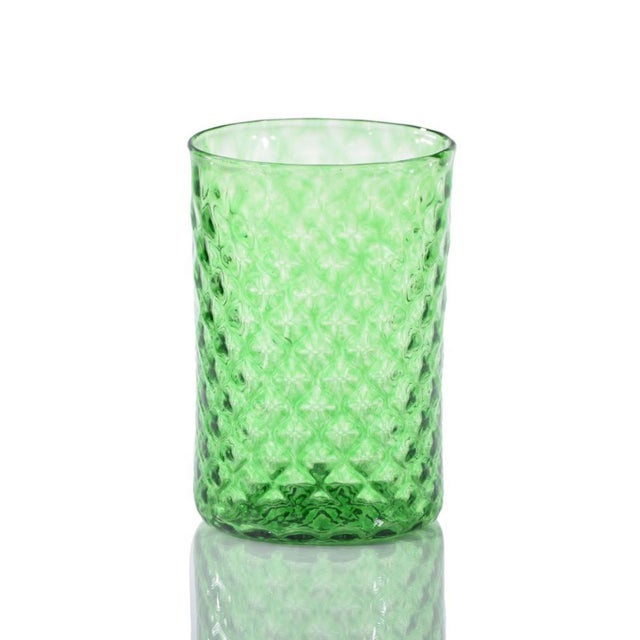 Modern Rosemary Mandala Drinking Glass - Set of 6 For Sale - Image 3 of 4