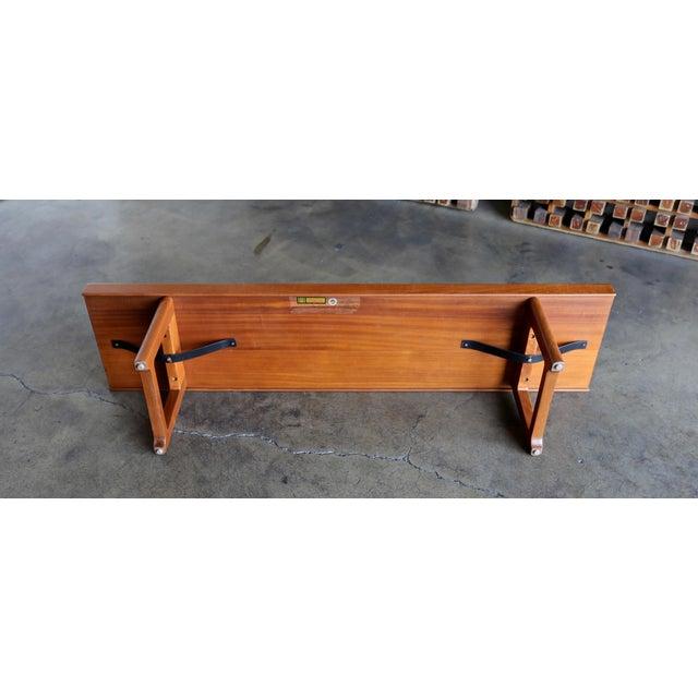 """Brown 1960s Vintage Teak """"Krobo'' Bench by Torbjørn Afdal for Bruksbo For Sale - Image 8 of 11"""