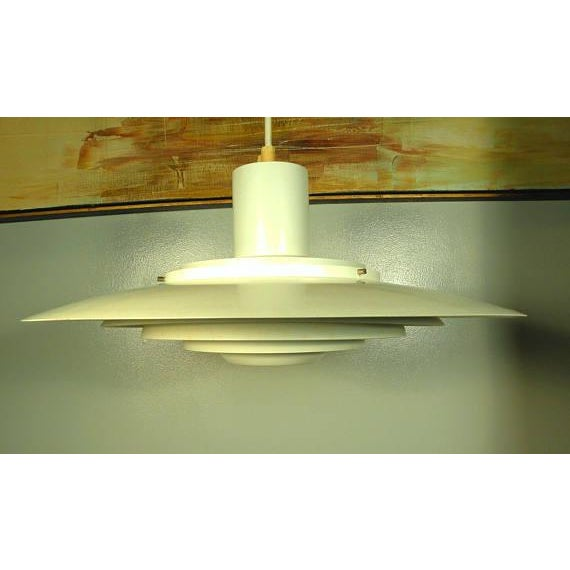 Vintage Mid-Century Modern Space Ship Hanging Light Fixture | Chairish