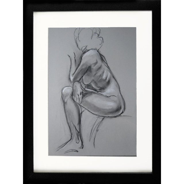 Kathleen Ney Original Charcoal Drawing For Sale - Image 4 of 4