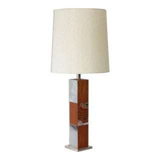1960s Paul Evans Teak Laurel Lamp For Sale