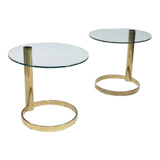 1970's Leon Rosen Side Tables for Pace - a Pair For Sale