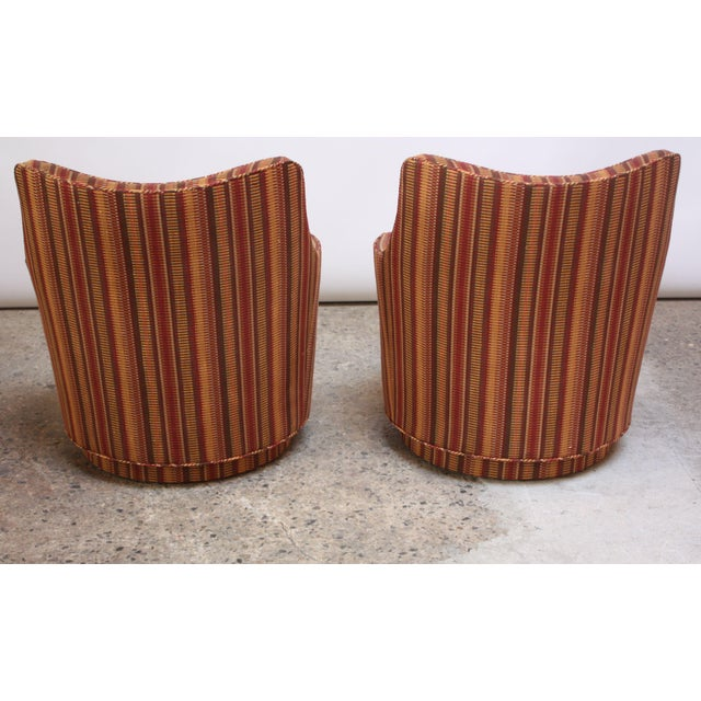 Edward Wormley Mid-Century Modern Diminutive Swivel Chairs - a Pair For Sale - Image 4 of 13