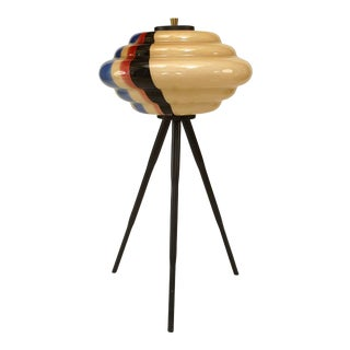 1960s Italian Low Multicolored Murano Glass Floor Lamp For Sale