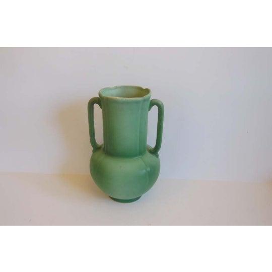 Vintage Weller Pottery Dogwood Matte Green Vase Chairish