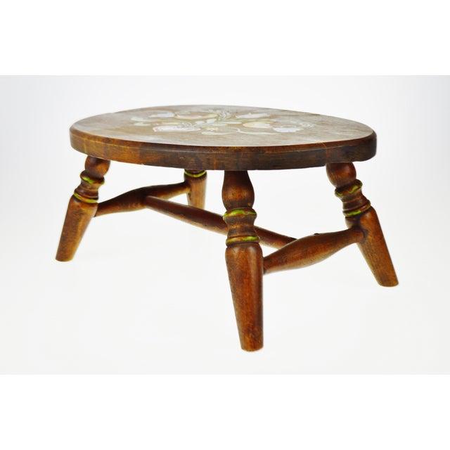 Vintage Pennsylvania Dutch Wooden Stool   Chairish