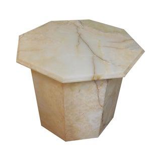 Genuine Onyx Octagon Pedestal End Table