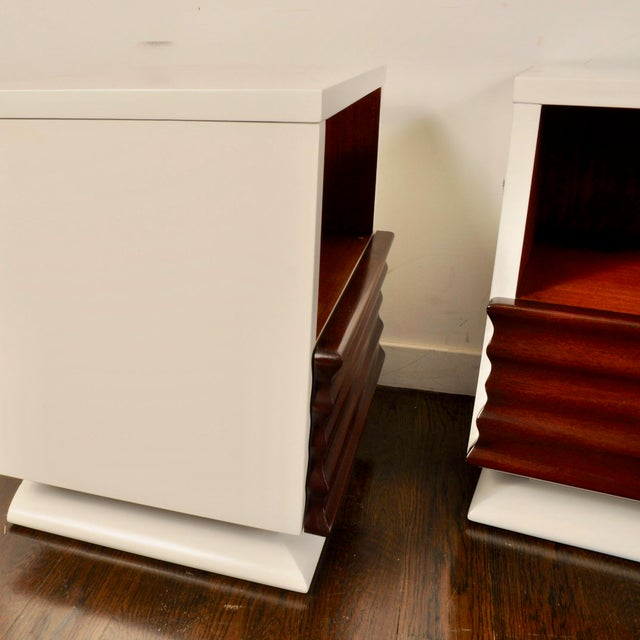 Mid Century Lacquered Nightstands by Vanleigh Furniture For Sale - Image 9 of 12