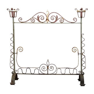 20th Century Traditional Wrought Iron Fire Place Screen