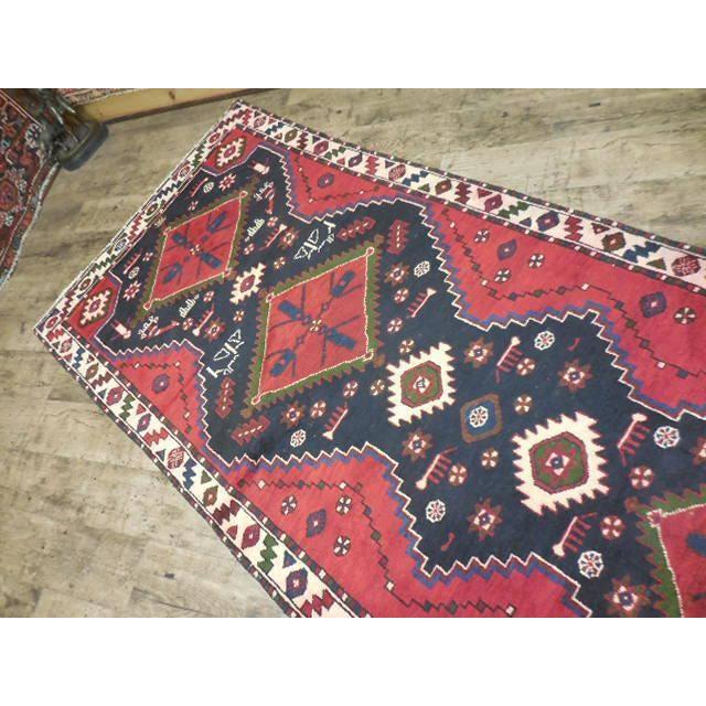 "Persian Tribal Kilim Runner - 3'5"" x 10'3"" For Sale - Image 4 of 6"
