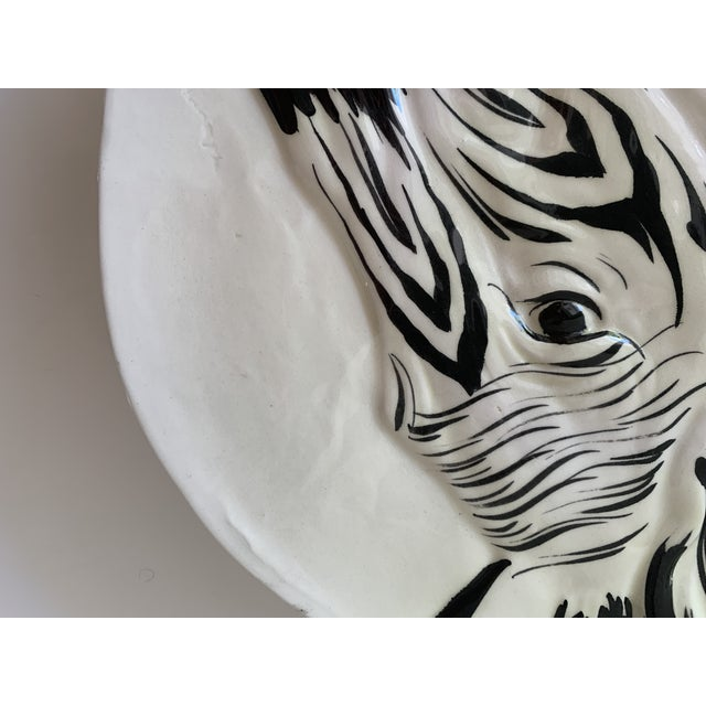 Vintage Zebra Plates for Bonwit Teller - Set of 6 For Sale In Miami - Image 6 of 11