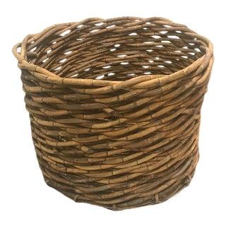 Large Handmade Rattan Basket For Sale